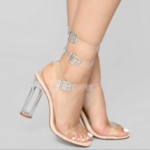 Fashion Nova Clear heels/sandals